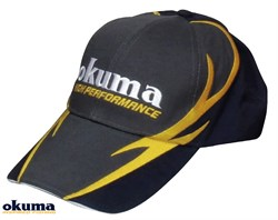 Okuma Gray Cotton Cap With Fire Pattern